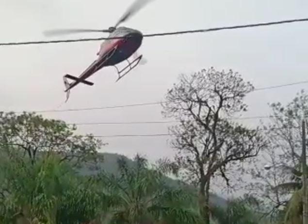 Helicóptero sequestrado