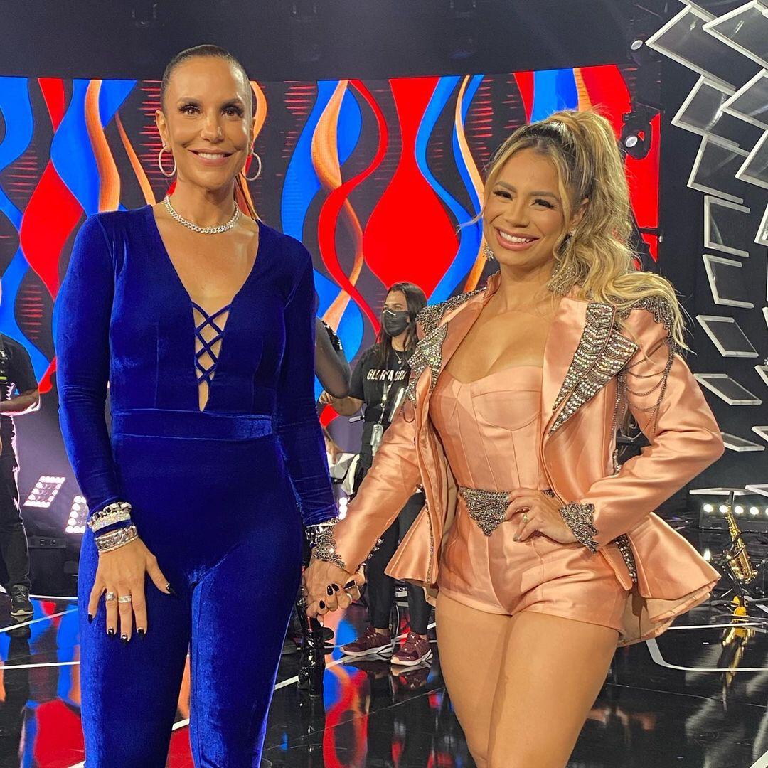 Na imagem, cantoras Lexa e Ivete Sangalo