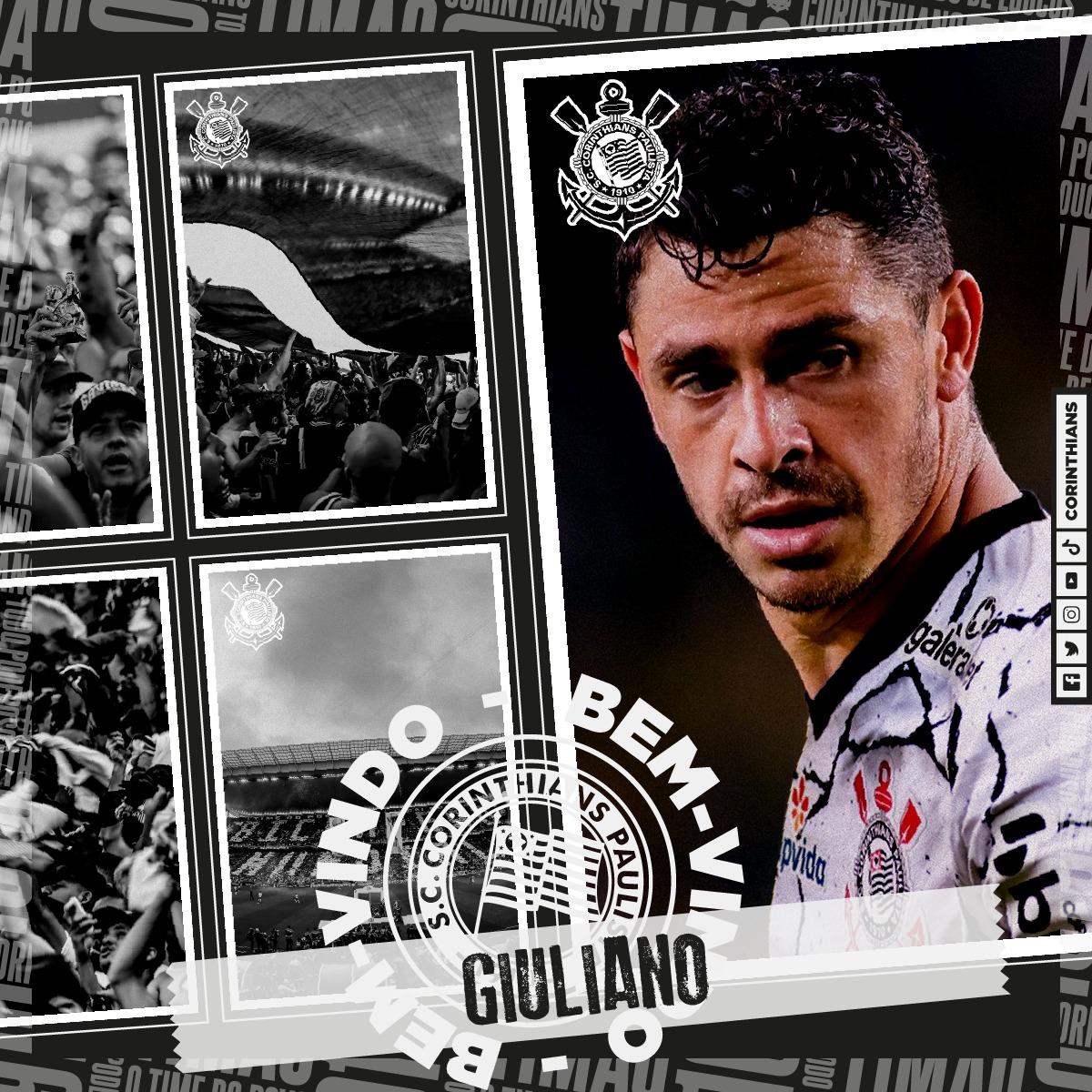 Em montagem, Giuliano aparece com a camisa do Corinthians