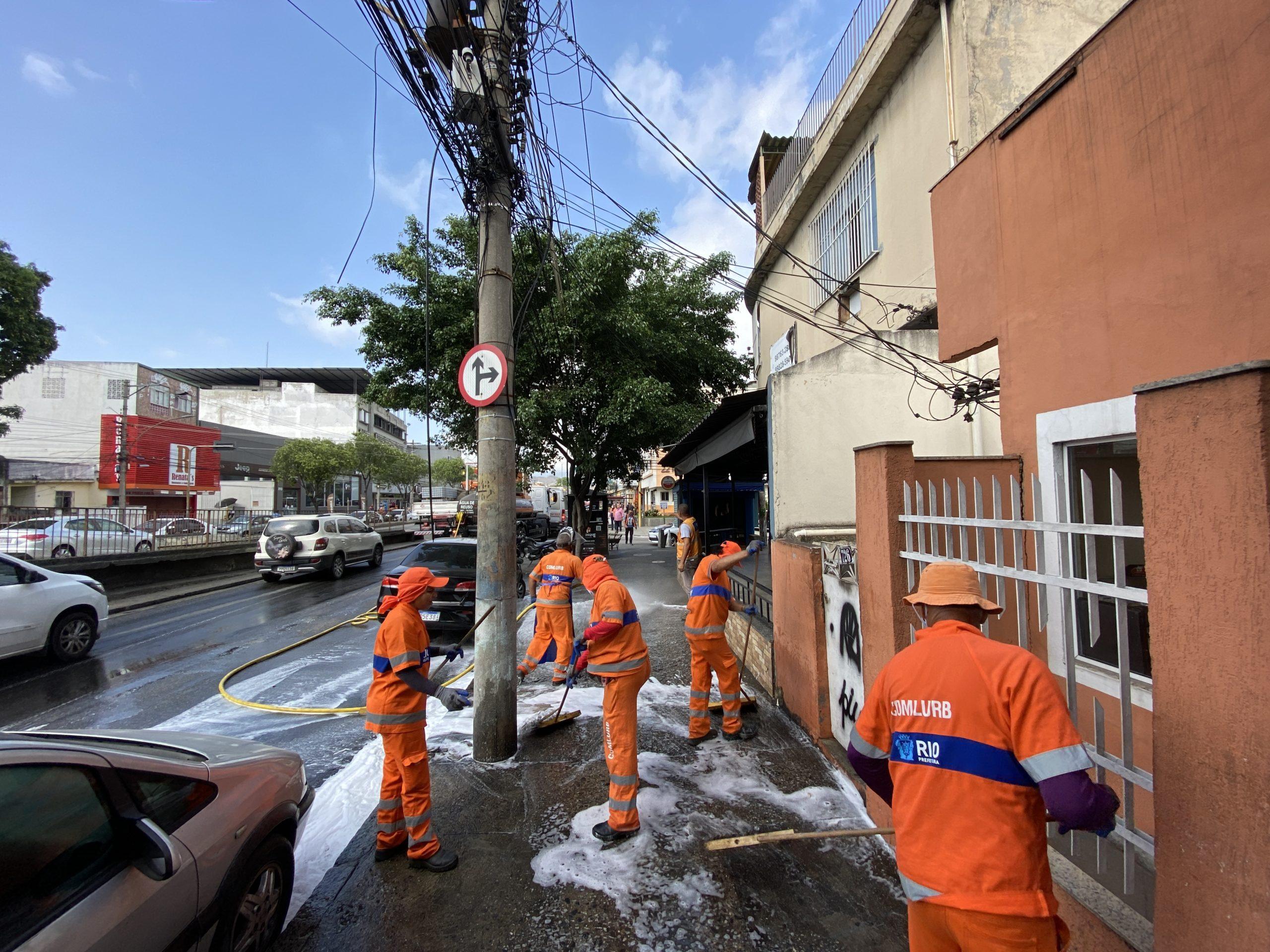 Comlurb realiza ação na Zona Norte do Rio