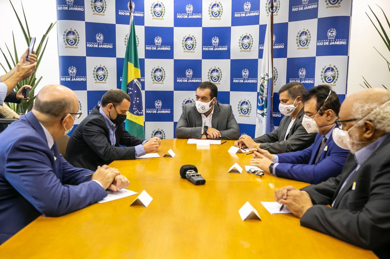 Imagem da reunião com o Governador do Rio, Cláudio Castro