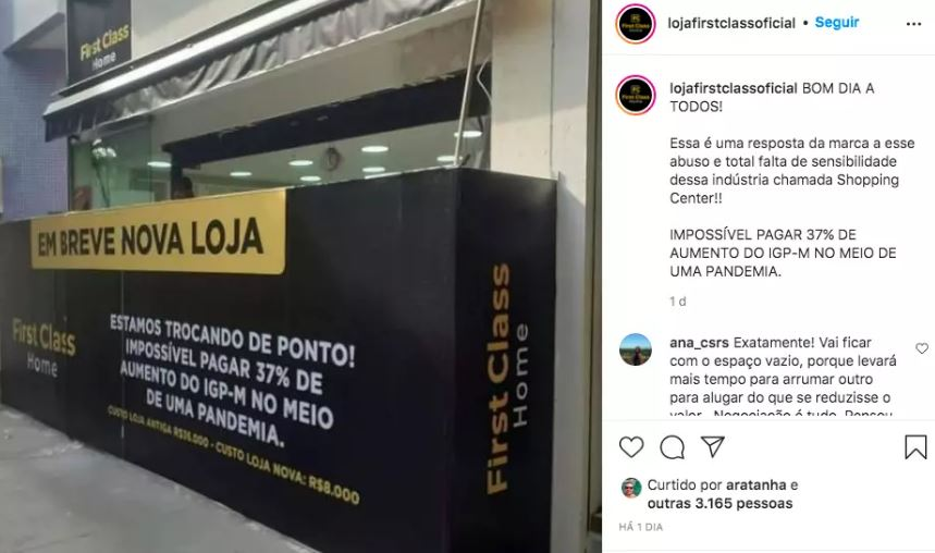 Loja First Class no Shopping Downtown, na Barra da Tijuca
