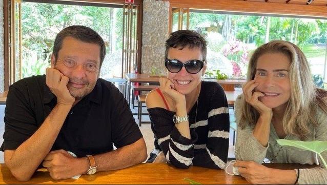 José Maurício Machline, Adriana Calcanhoto e Maitê Proença em Angra dos Reis