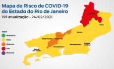 Secretaria de Saúde aponta que estado do Rio permanece com baixo risco para a Covid-19