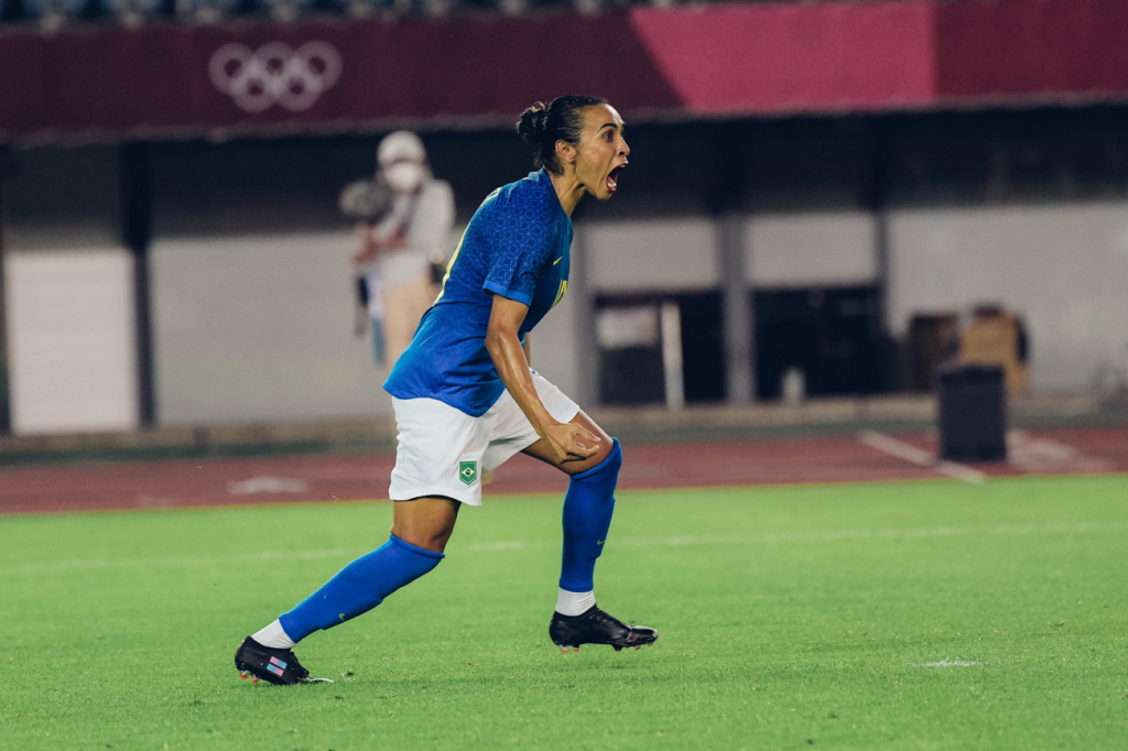 Marta comemora gol de empate