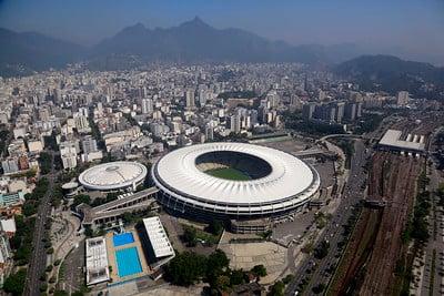 Imagem aérea do Maracanã
