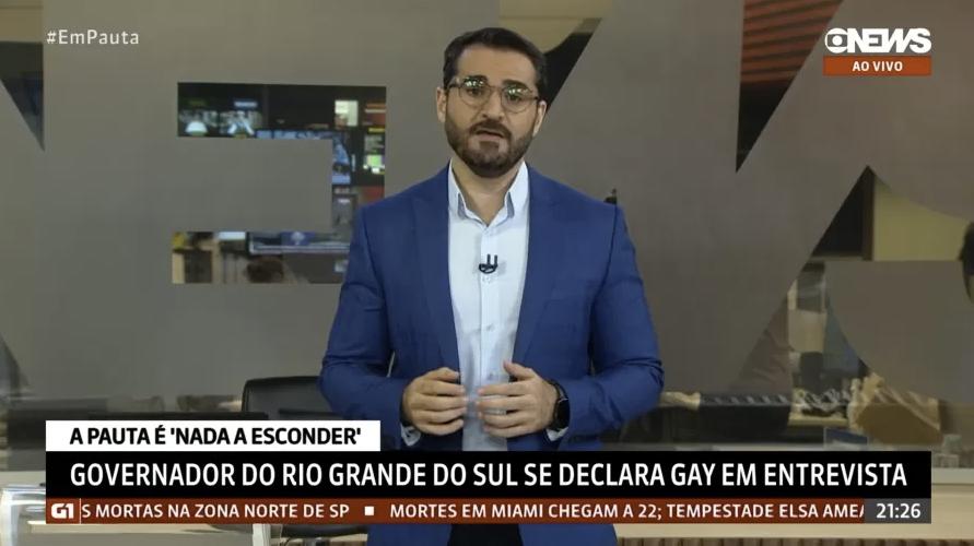 """Marcelo Cosme durante o programa """"Em Pauta"""", da GloboNews"""