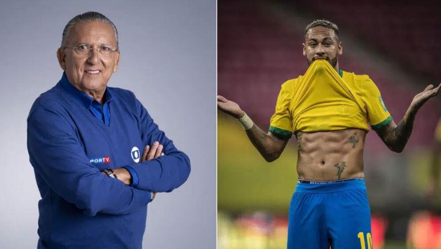 Galvão Bueno e Neymar