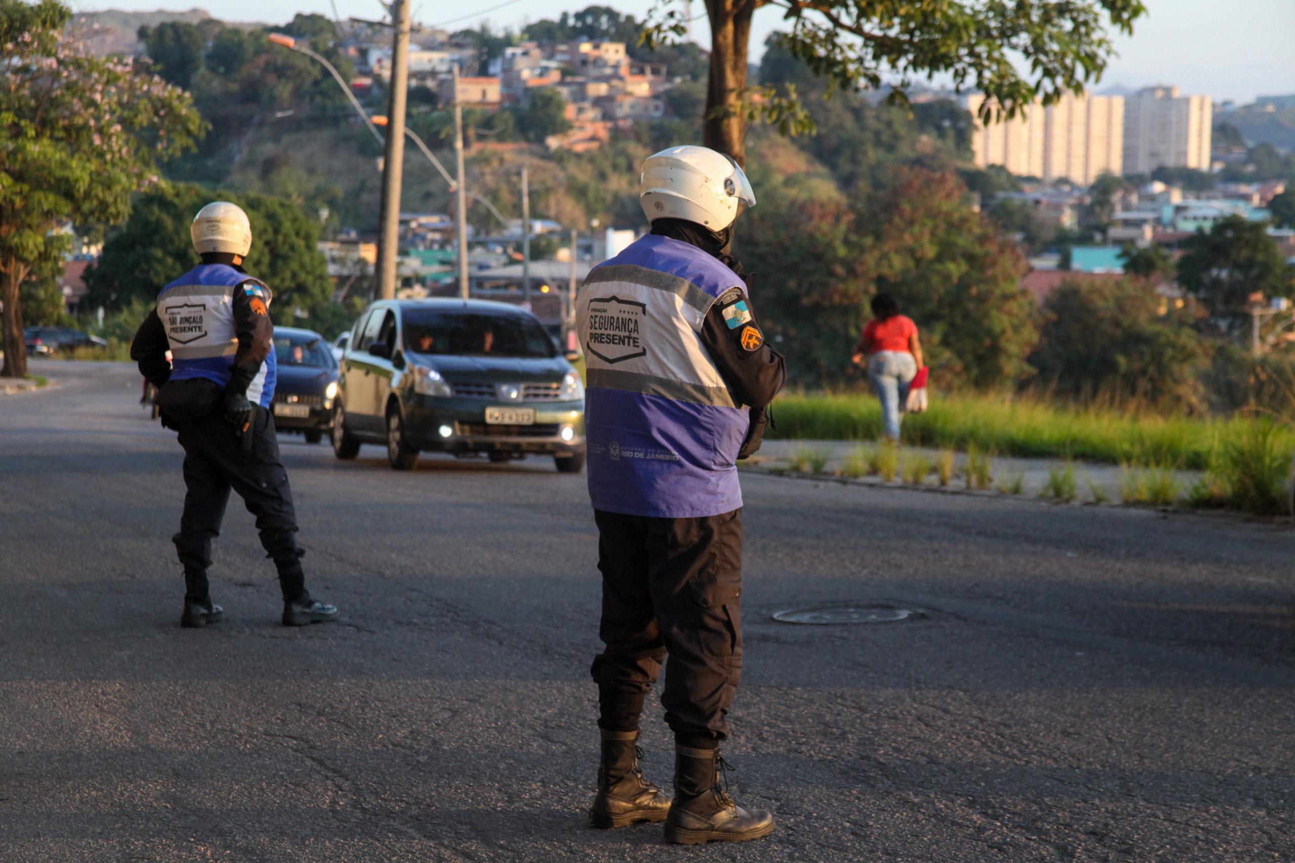 Imagem de uma fiscalização em São Gonçalo