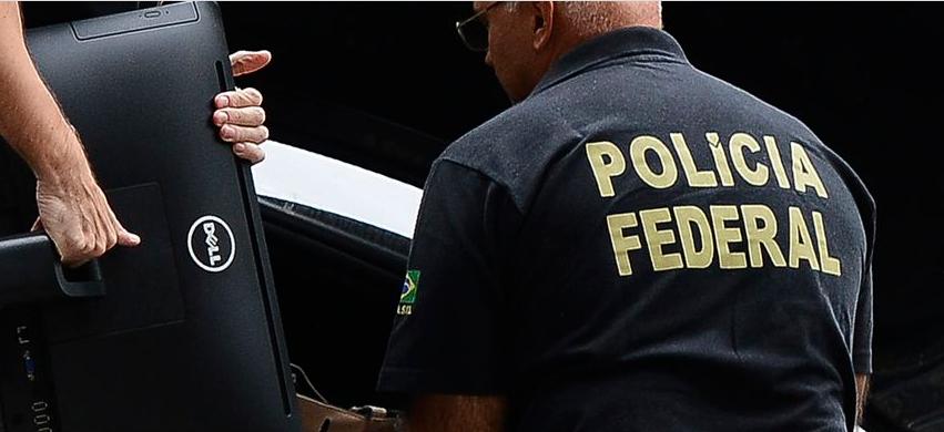 Imagem de um agente da Polícia Federal