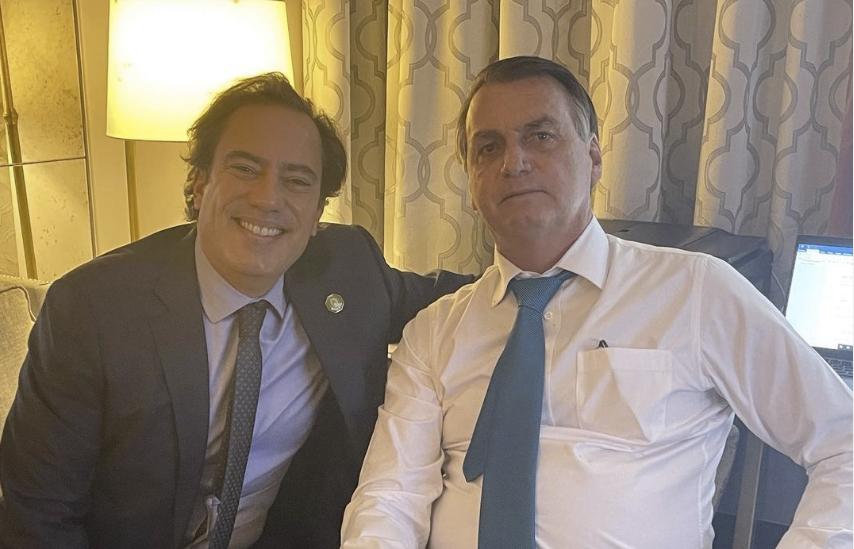 Pedro Guimarães e Jair Bolsonaro