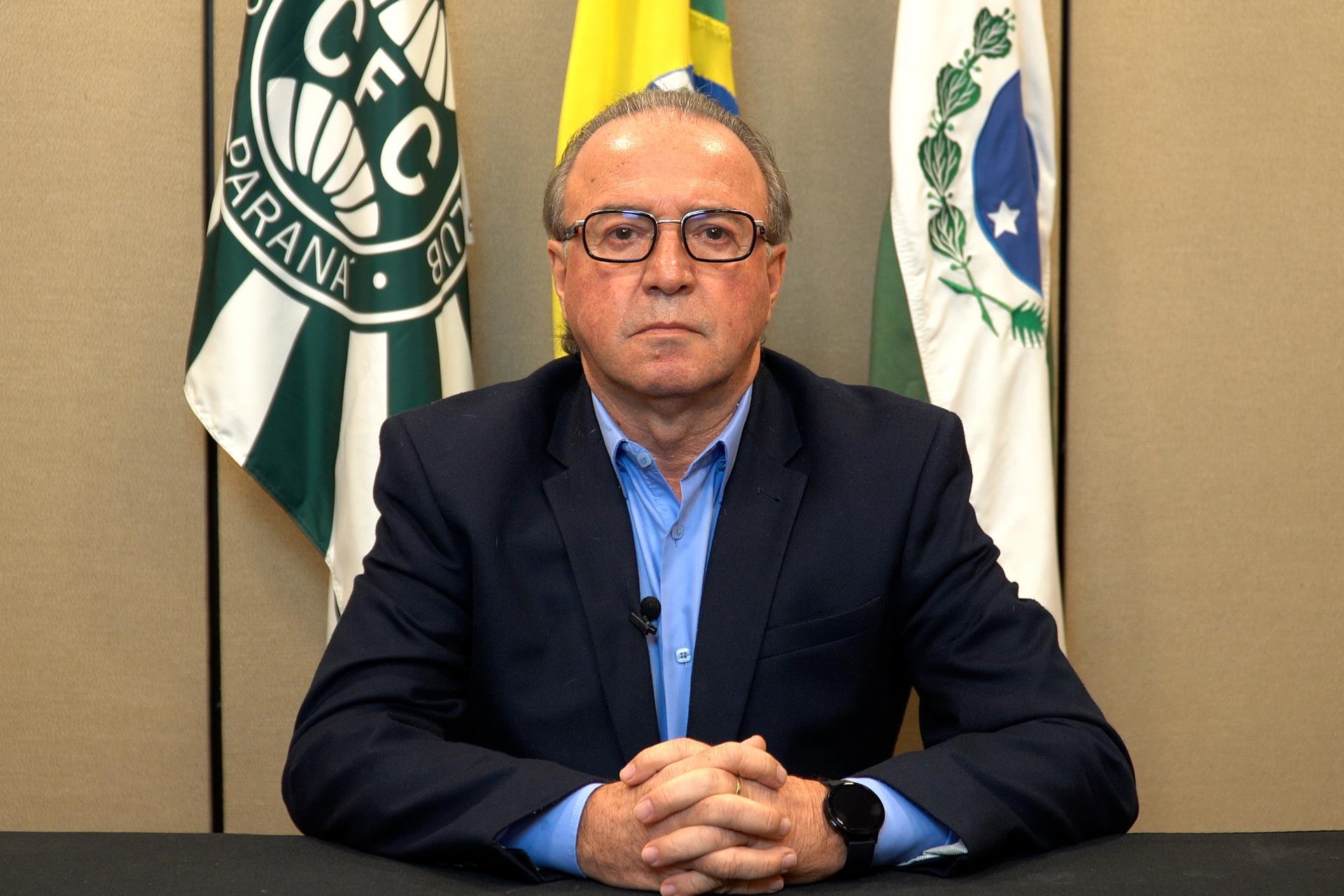 Presidente do Coritiba morreu neste sábado