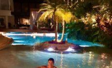 Rodrigo Faro mostra piscina gigante que tem em casa