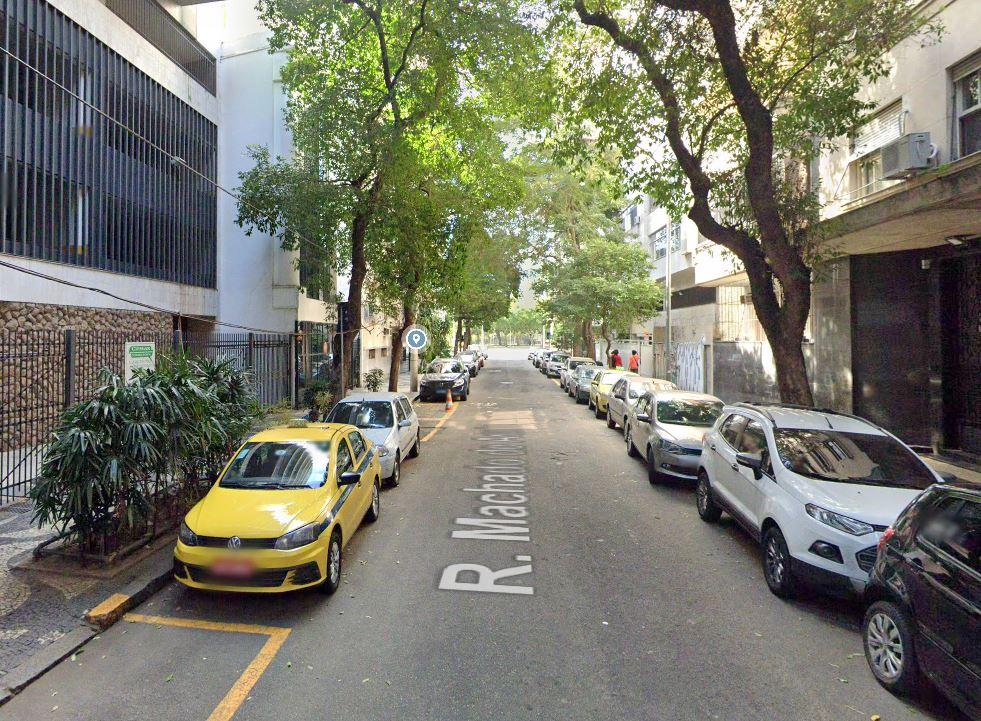 Rua Machado de Assis, no bairro do Flamengo, na Zona Sul do Rio