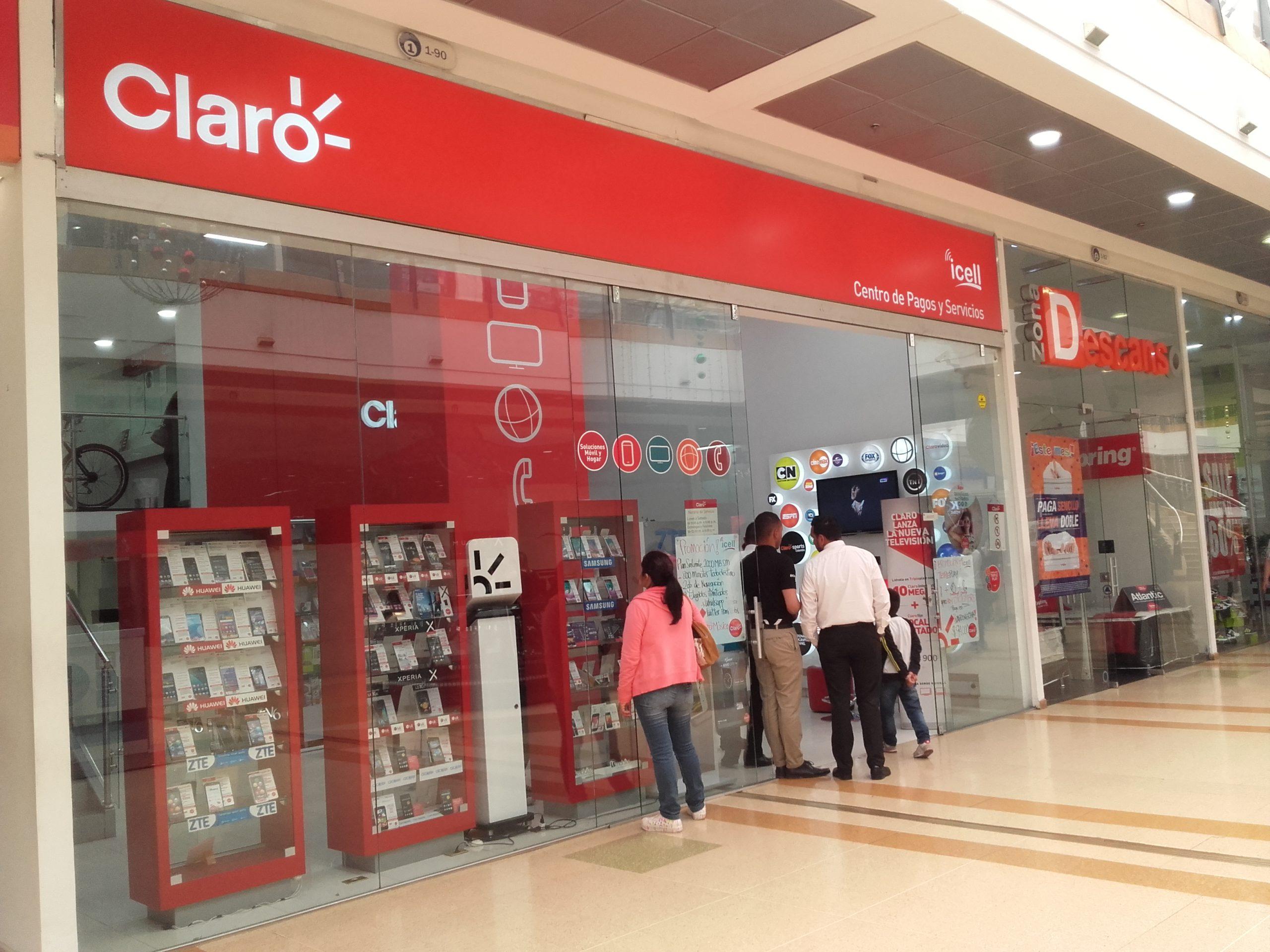 Imagem de uma loja da Claro
