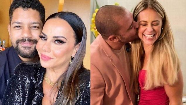 Viviane Araújo com o noivo Guilherme Militão e Paolla Oliveira com Diogo Nogueira