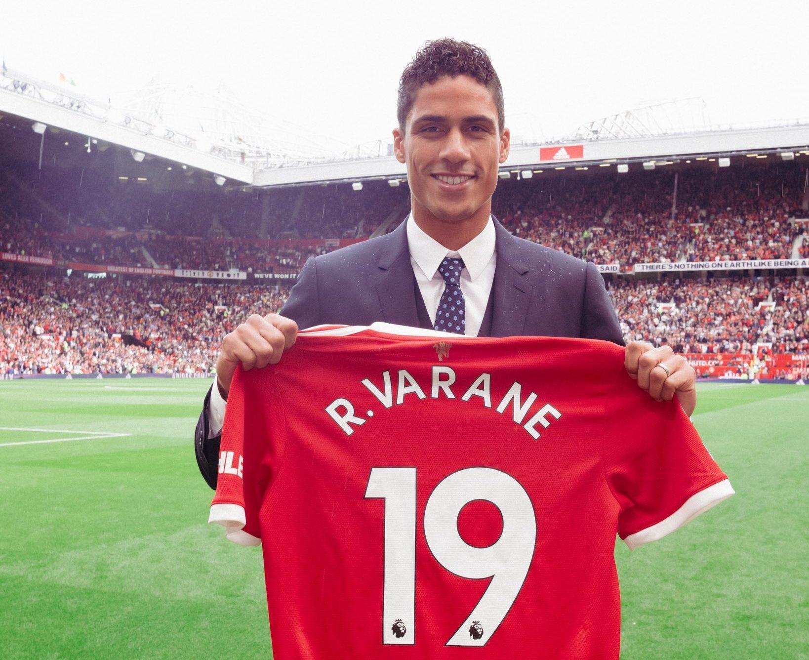 Varane é o novo reforço do Manchester United
