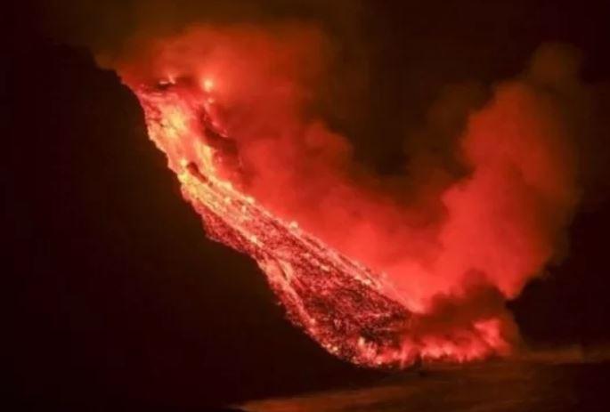 Vulcão nas Ilhas Canárias