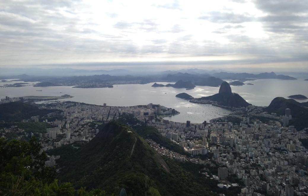 Vista aérea da Zona Sul do Rio