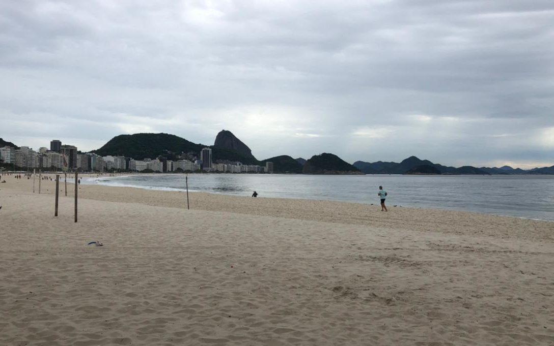 Praia de Copacabana, na Zona Sul do Rio