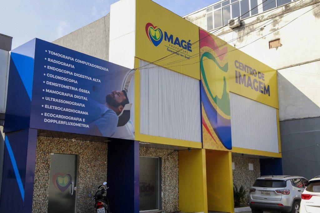 Fachada do novo centro de imagens de Magé