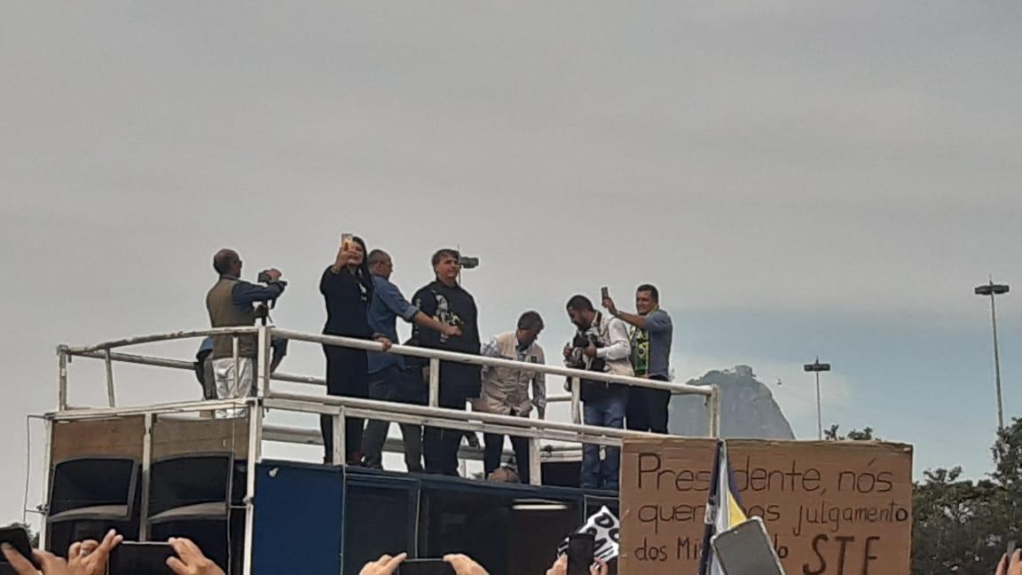 Manifestação pró-Bolsonaro, no Aterro do Flamengo, na Zona Sul do Rio