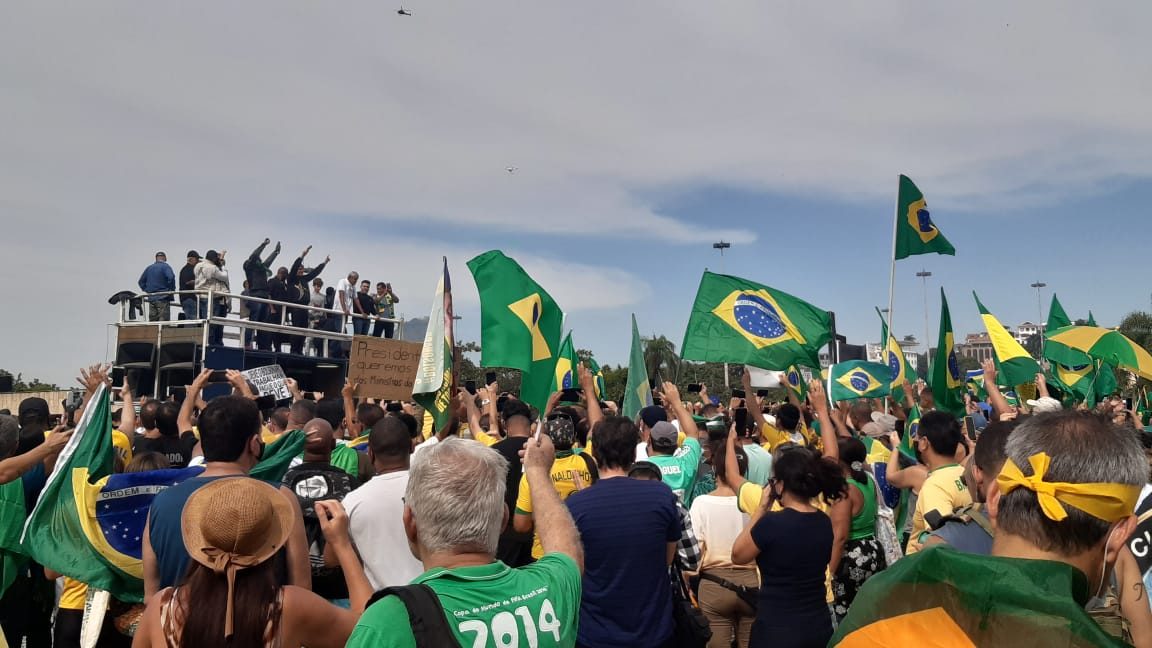 Jair Bolsonaro em passeata no Aterro do Flamengo, na Zona Sul do Rio