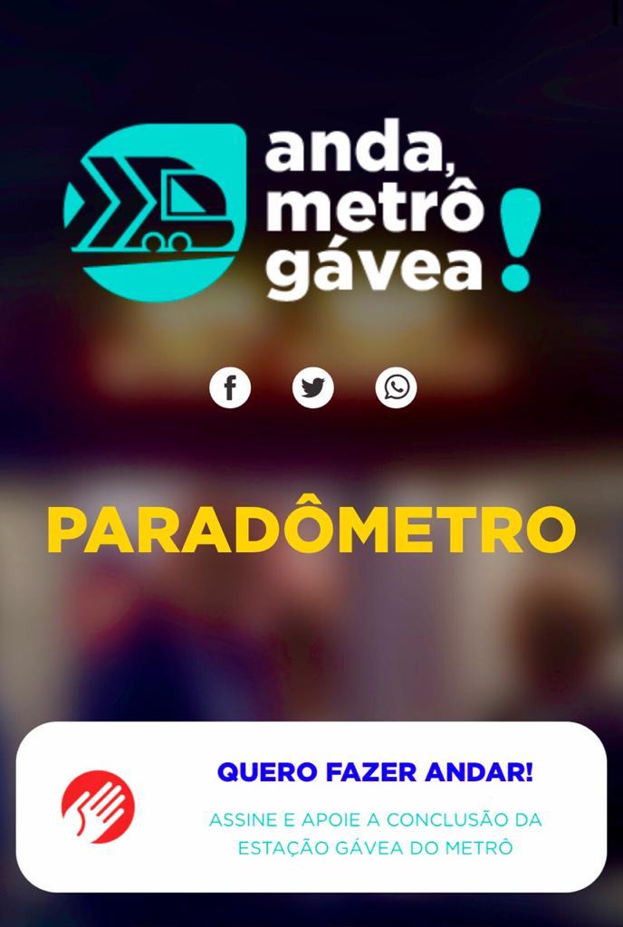 """Imagem do banner do """"anda Metrô Gávea"""""""