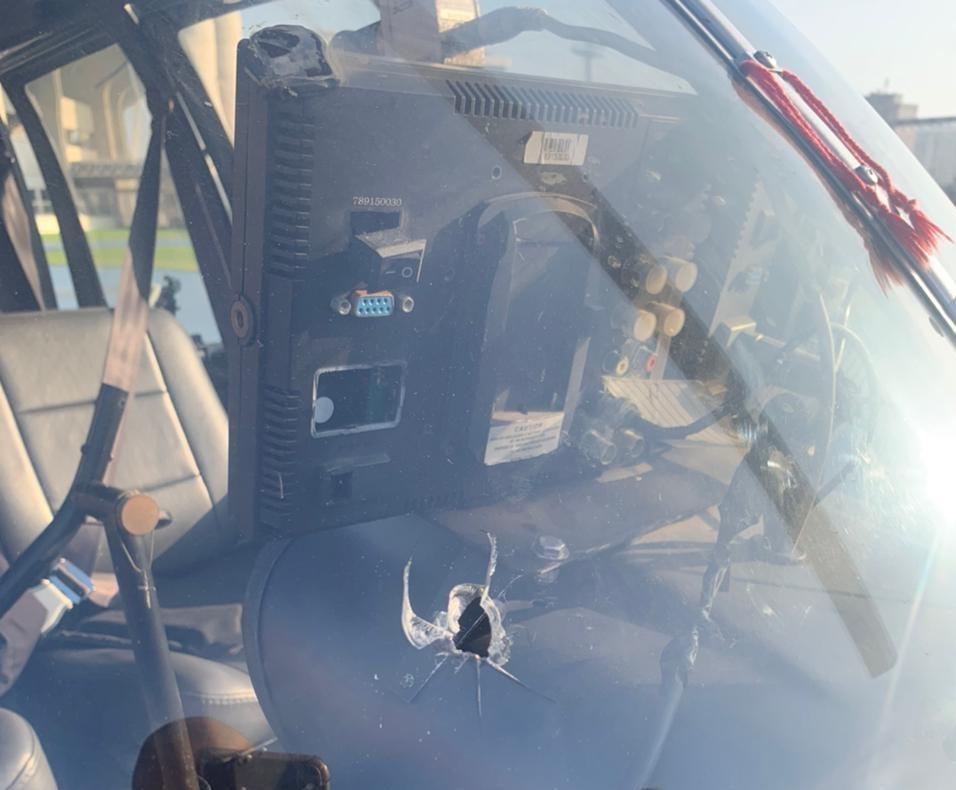 helicóptero da record atingido por um tiro