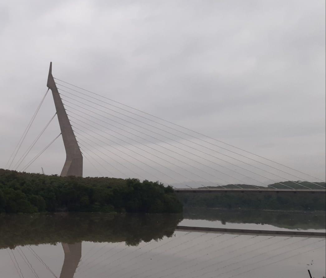Ponte estaiada na Ilha do Fundão