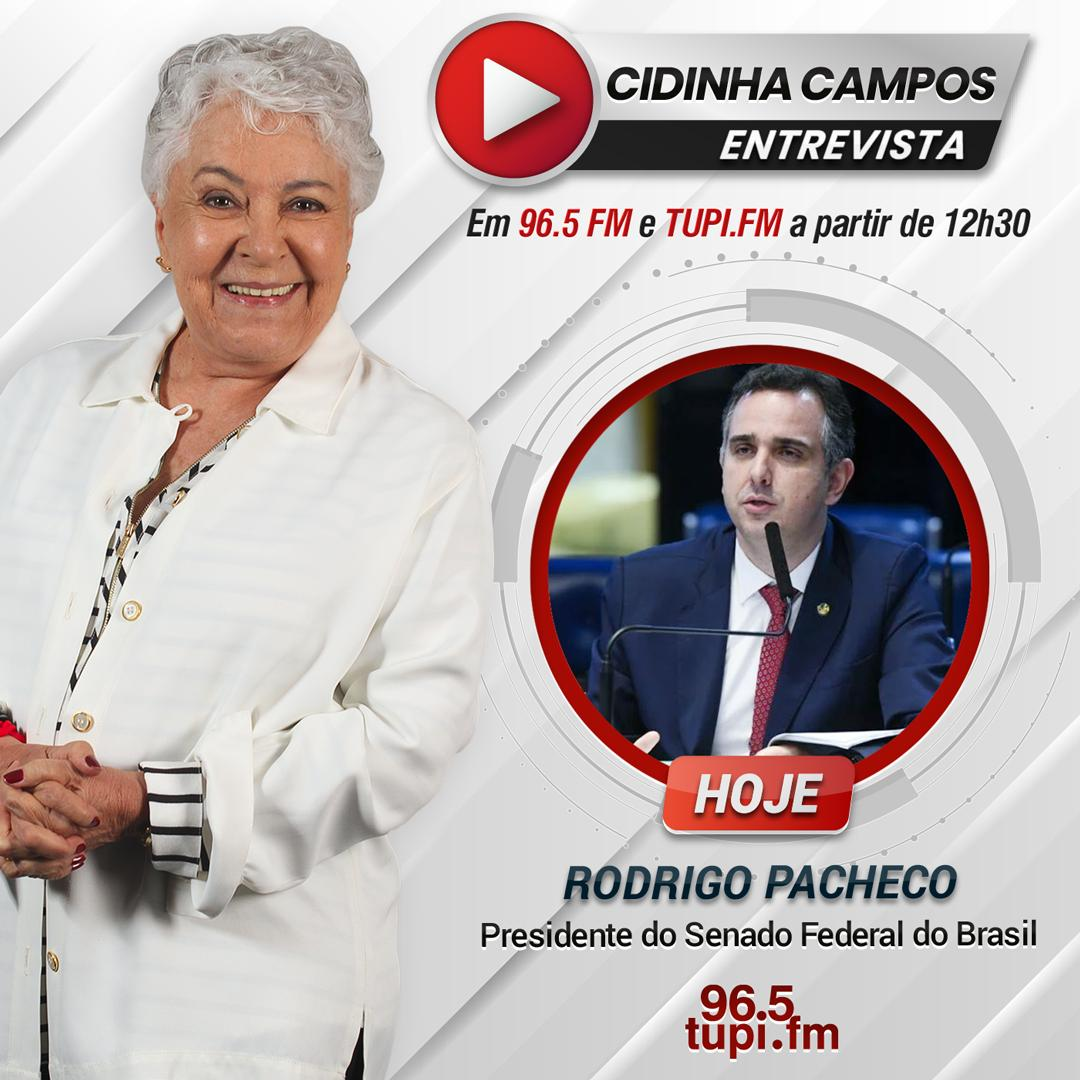 Rodrigo Pacheco no programa Cidinha Livre