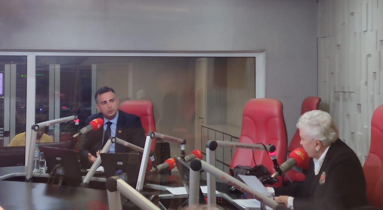 Senador Rodrigo Pacheco foi o entrevistado do Cidinha Livre