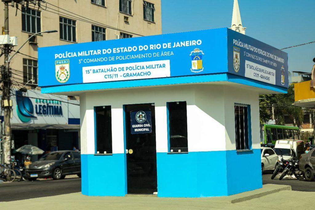 Cabine da PM é inaugurada em Gramacho, Duque de Caxias