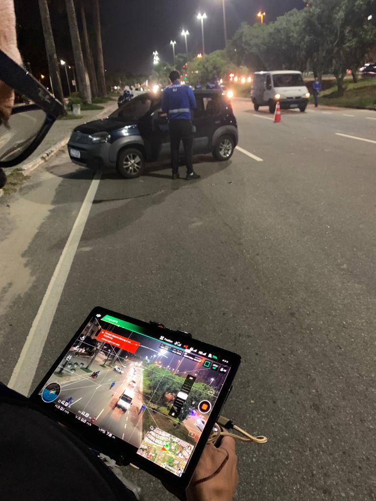 Detran utiliza drone para fiscalizar o trânsito