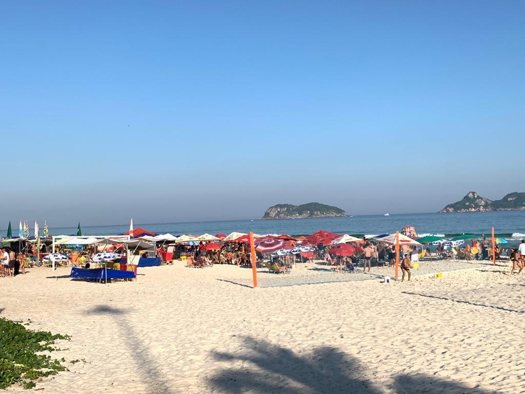Praia da Barra, Zona Oeste do Rio de Janeiro (Foto: Camila Moraes/ Divulgação: Super Rádio Tupi)