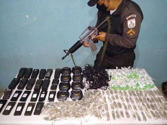 Apreensão feita pela Polícia Militar em Volta Redonda