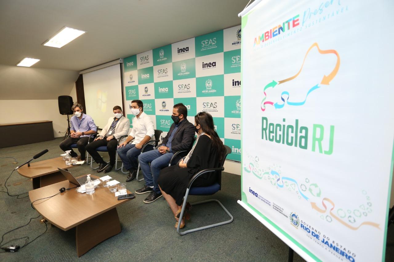 Seas e Inea lançam o programa 'Recicla RJ' (Foto: Fabiano Veneza/ Divulgação: Seas e Inea)