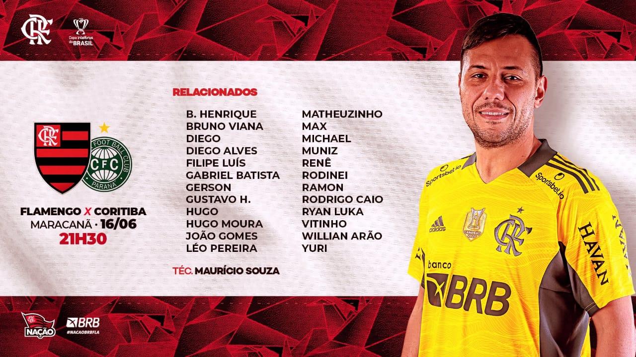 Em destaque, de camisa amarela, Diego Alves aparece na lista de relacionados do Flamengo