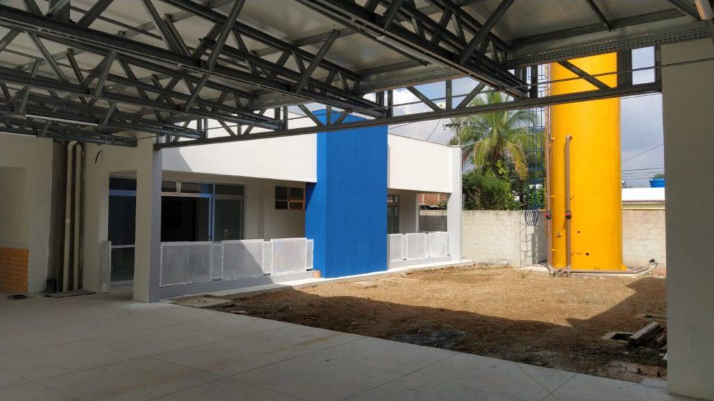 Nova creche sendo construída em Duque de Caxias