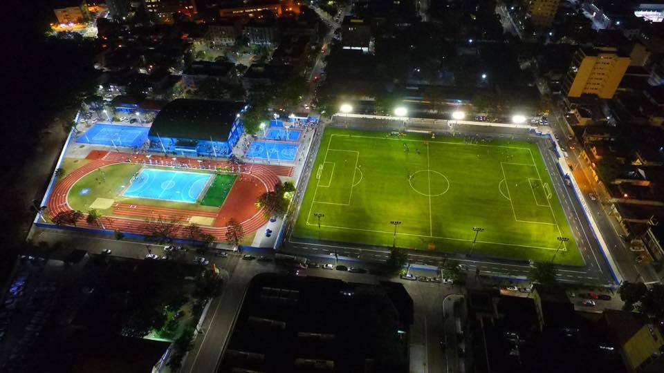 Imagem aérea da Vila Olímpica de Duque de Caxias