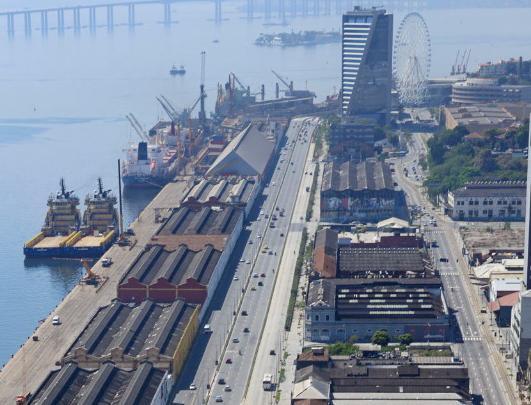 Imagem da Região Portuária do Rio