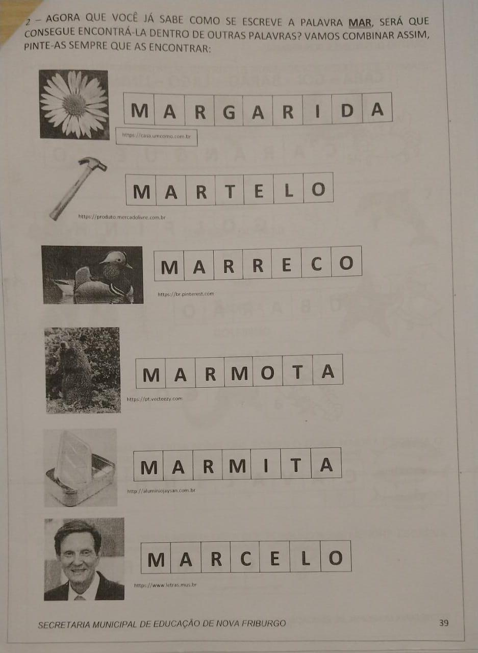 Exercício que mostra o nome e foto de Marcelo Crivella