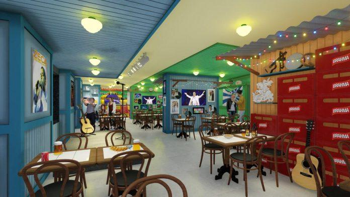 Bar do Zeca Pagodinho: projeto da filial do Flamengo