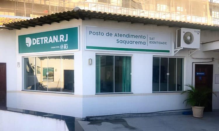Imagem da fachada do Detran de Saquarema