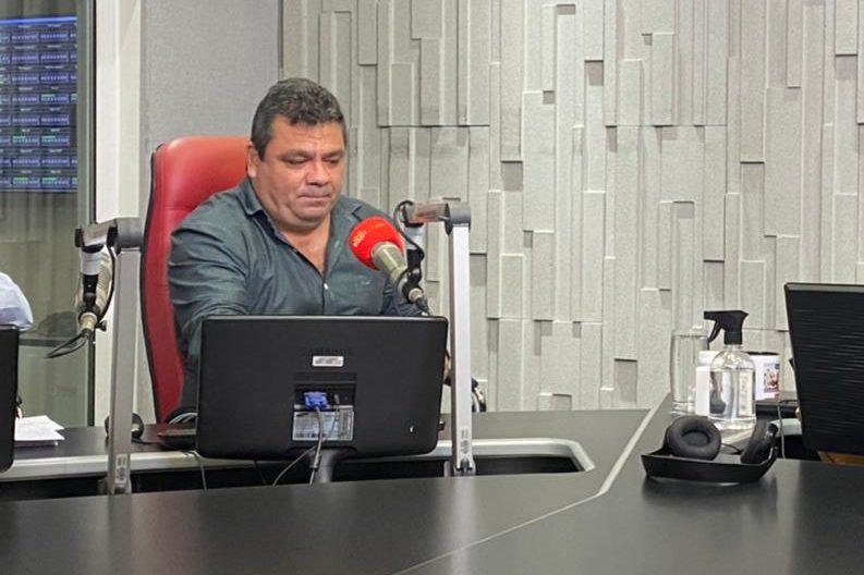 Clóvis Monteiro e o Secretário estadual de Saúde Alexandre Kiep