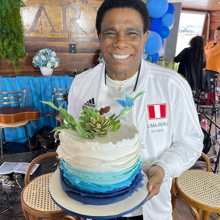 Neguinho da Beija-Flor celebra aniversário animado em família no Rio (Divulgação: Palmer Assessoria de Comunicação)