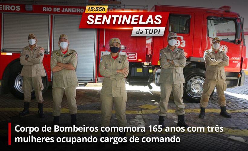 Corpo de Bombeiros comemora 165 anos (Foto: Erika Corrêa/ Divulgação: Super Rádio Tupi)