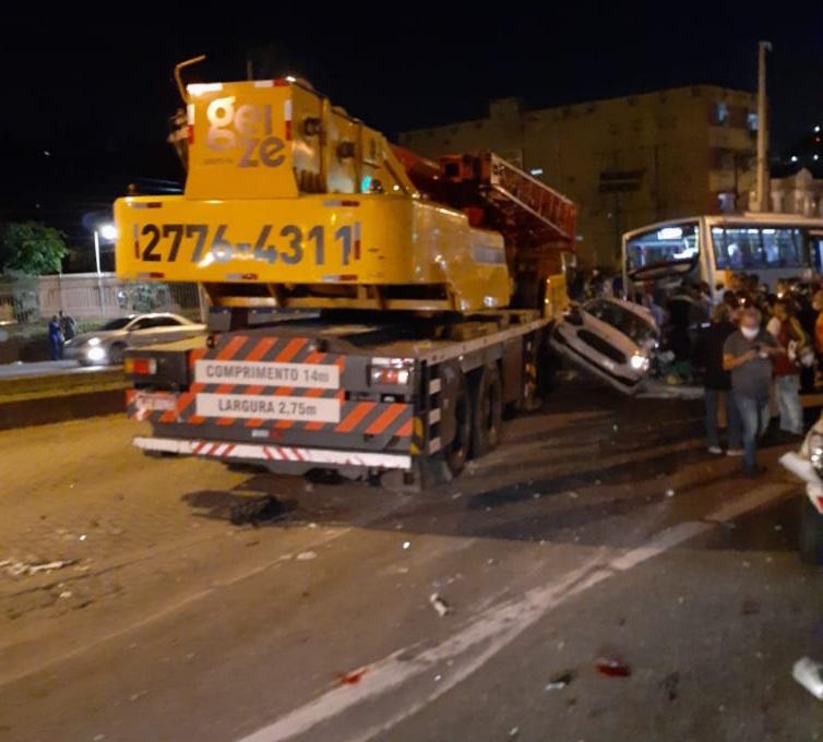 Imagem de um acidente em Niterói