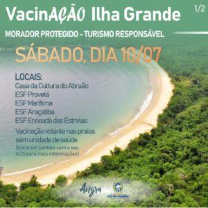 Governo inicia vacinação na Baia de Ilha Grande