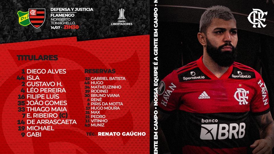 Michael é a novidade no time do Flamengo